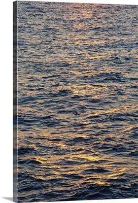Greece, Aegean Sea at sunset