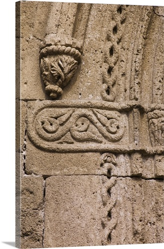 Greece, Rhodes, Medieval fortified wall carvings Wall Art, Canvas ...