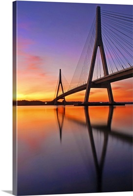 Guadiana Bridge over sunset, Ayamonte, Huelva.