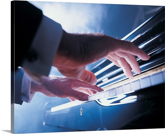 Hands playing piano keys Wall Art, Canvas Prints, Framed ...