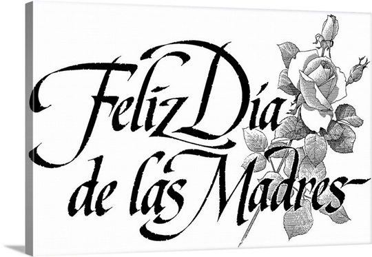 Happy mothers day in spanish Wall Art, Canvas Prints