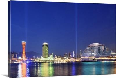 Harbor land at night, Kobe City, Hyogo Prefecture, Honshu, Japan