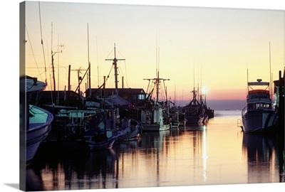 Harbour at sunset, Louisiana