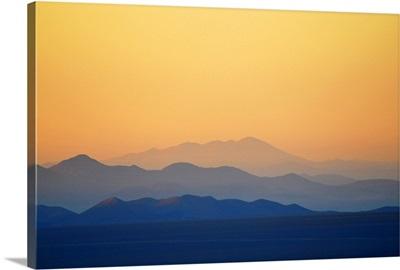 Hills at Atacama desert in Copiapo, Chile.