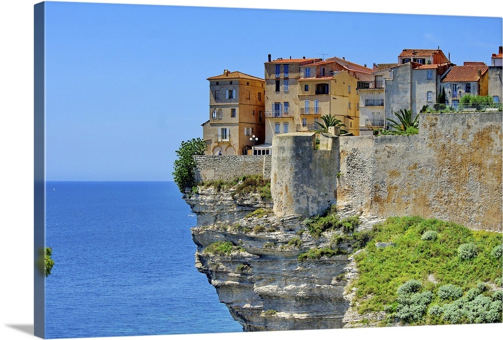 . Houses at Bonifacio in Corsica is built on cliff