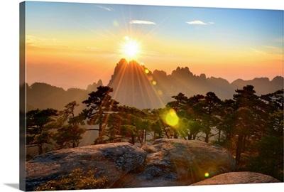 Huangshan mountain range, Anhui, China.