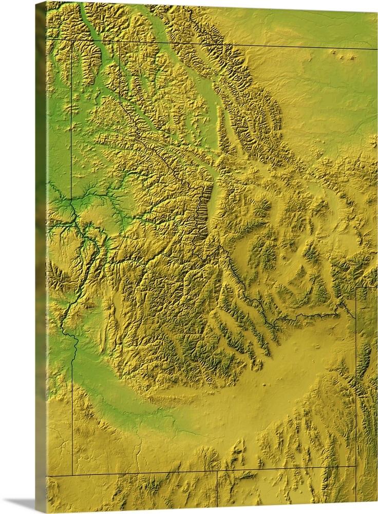 Idaho topographic map Wall Art, Canvas Prints, Framed Prints, Wall ...