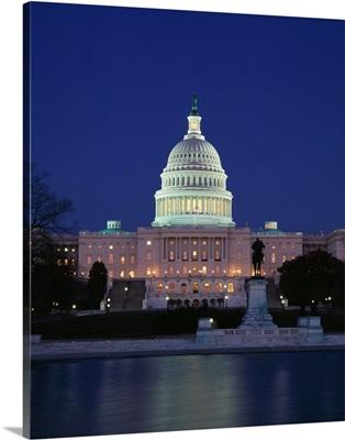 Illuminated Capitol At Night, Washington D.C.