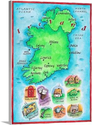 Illustrated Map of Ireland