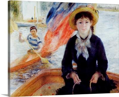 In A Dinghy By Pierre-Auguste Renoir