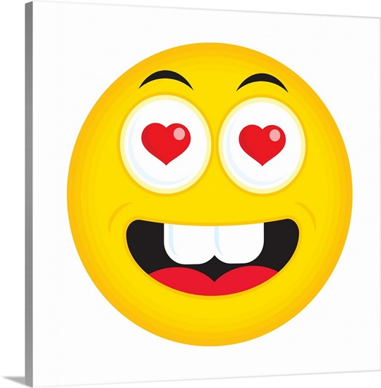Emoji Wall Art in love emoji wall art, canvas prints, framed prints, wall peels