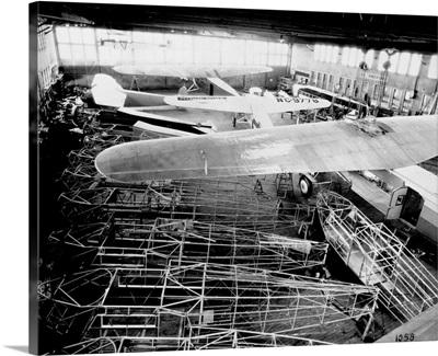Interior Of Main Hangar At Fokker Aircraft Corporation