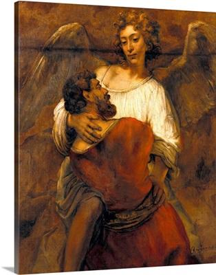 Jacob Wrestling With The Angel By Rembrandt Van Rijn