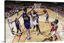 James Harden of the Houston Rockets shoots the ball against the Sacramento Kings