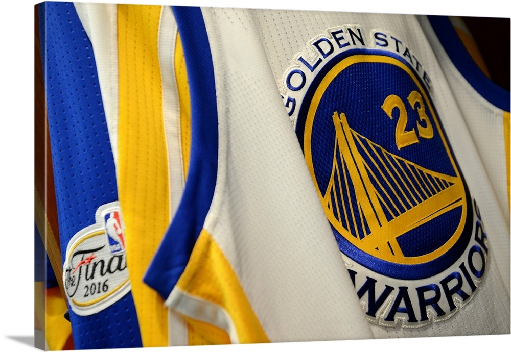 52ab910747a Jersey of Draymond Green of the Golden State Warriors Wall Art ...