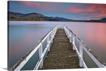 Jetty in Lyttelton Harbour, Christchurch, New Zealand.