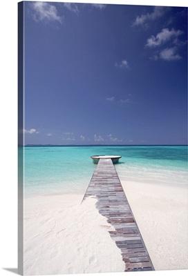 jetty leading to ocean, maldives