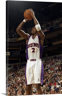 Joe Johnson 2 of the Phoenix Suns shoots against the Portland Trail Blazers