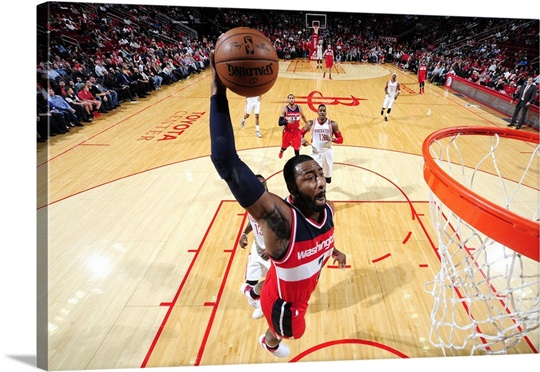 John Wall 2 Of The Washington Wizards Goes For Dunk During Game