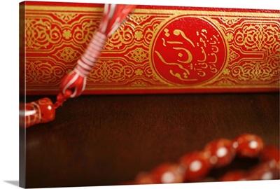 Koran and praying beads. Dubai, United Arab Emirates
