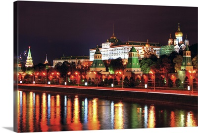 Kremlin in Moscow in front of river Moskva.