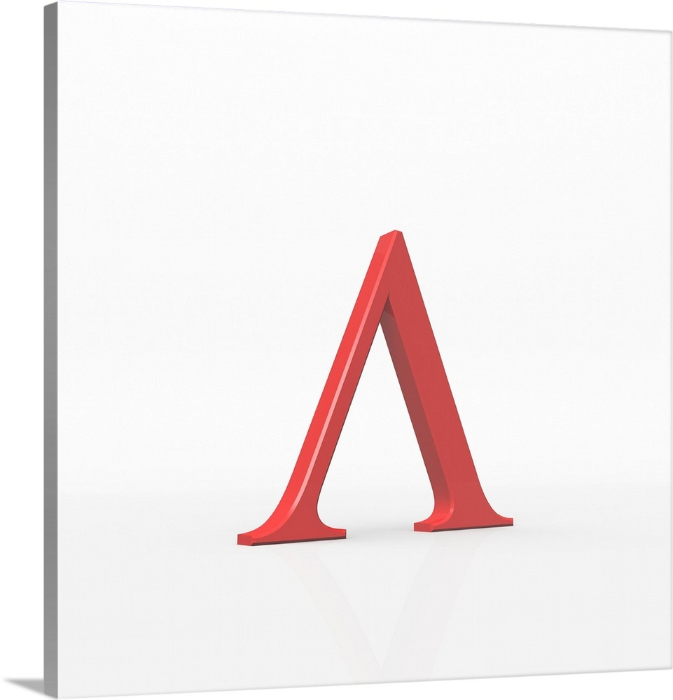 Lambda is the 11th letter of the Greek alphabet. Wall Art, Canvas