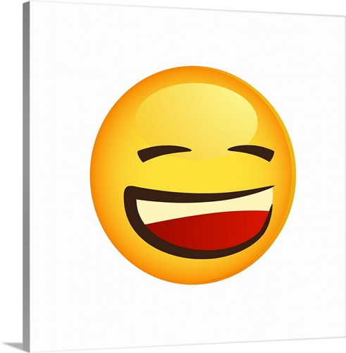 Laughing emoji wall art canvas prints framed prints wall peels laughing emoji sciox Gallery