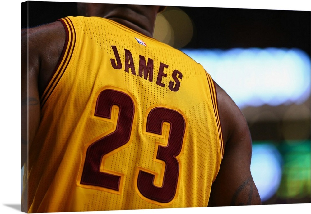 online retailer d32bd aa853 LeBron James of the Cleveland Cavaliers' jersey