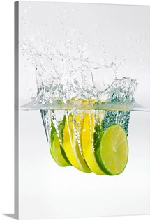 Lemon and lime in water
