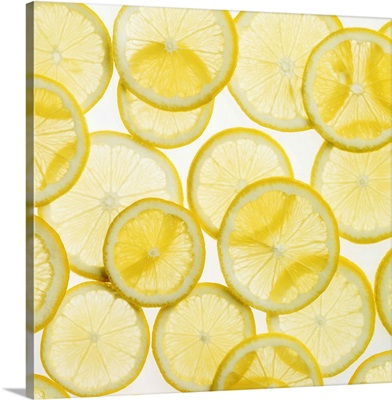 Lemon slices arranged in pattern