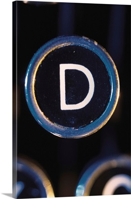 Letter D on typewriter