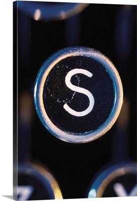 Letter S on typewriter
