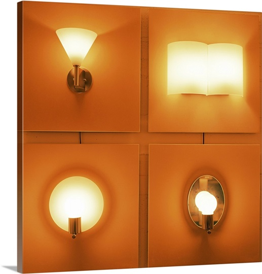 Store Light Fixtures: Light Fixtures On Display In Retail Store Wall Art, Canvas
