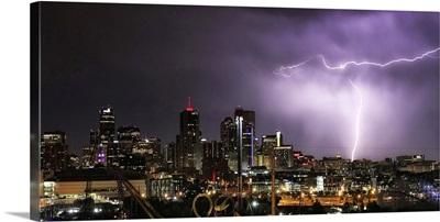 Lightning over Denver, Colorado