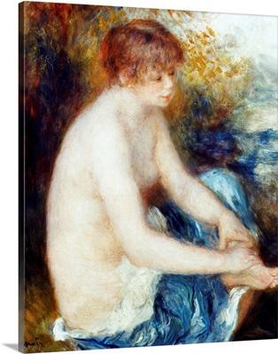 Little Blue Nude By Pierre-Auguste Renoir