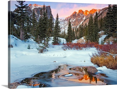Little stream near Rocky Mountain National Park near Estes Park, CO, USA.