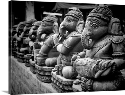 Lord Ganesha sculptures.