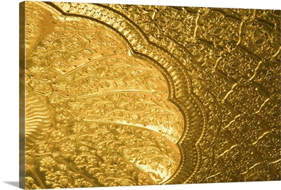 Low angle view of the ceiling of a temple, Golden Temple, Amritsar, Punjab, India