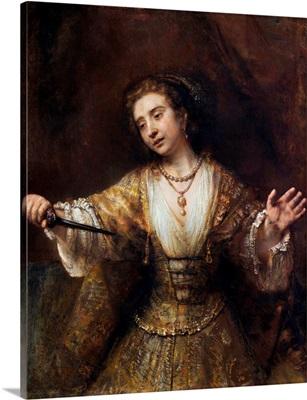 Lucretia By Rembrandt Van Rijn