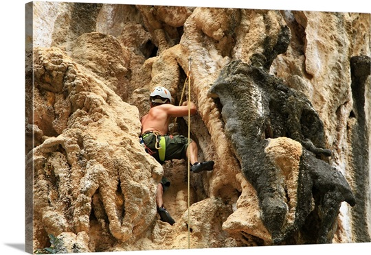 Man climbing rock. Wall Art, Canvas Prints, Framed Prints, Wall ...