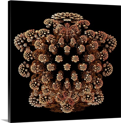 Mandelbulb fractal. A three-dimensional analogue derived from a Mandelbrot Set.