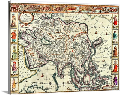 Map of Asia in the 17th Century