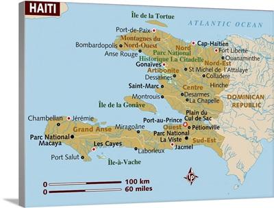 Map of Haiti.