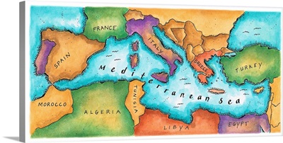 Map of Mediterranean Sea