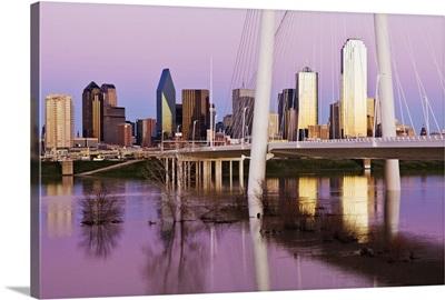 Margaret Hunt Hill Bridge at Dusk, Dallas, Texas