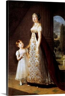 Marie Annonciade Caroline Bonaparte, Princess Murat by Elisabeth Vigee-Lebrun