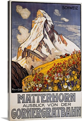 Matterhorn Travel Poster by Francois Gos