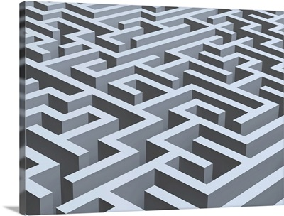 Maze, computer artwork.
