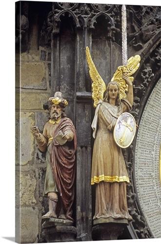Medieval sculpture, Prague, Czech Republic Wall Art, Canvas Prints ...