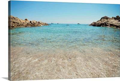 Mediterranean beach, Ramatuelle, L'Escalet, Cote d'Azur, France.